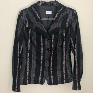 Basler Black Blazer Jacket Size 38 (12) NWOT